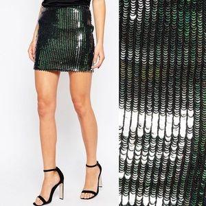 1DAYSALE!✨Glamorous Mermaid Scale Sequin Skirt